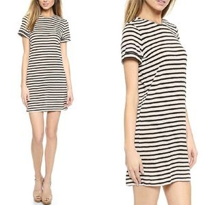 Alice + Olivia Roll Sleeve Linen Blend Tunic Dress